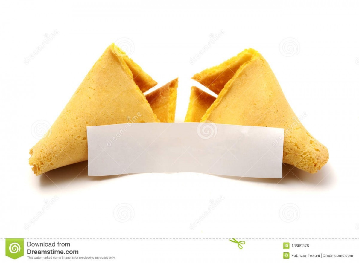 Broken Fortune Cookie Stock Photo  Image Of Opened, Isolated