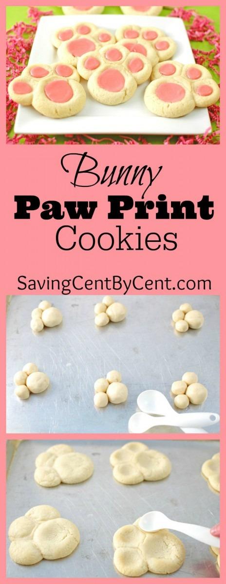 Bunny Paw Print Cookies