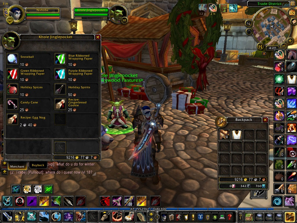 Shadows Wow Guide  Feast Of Winter Veil Quest Stormwind To Ironforge