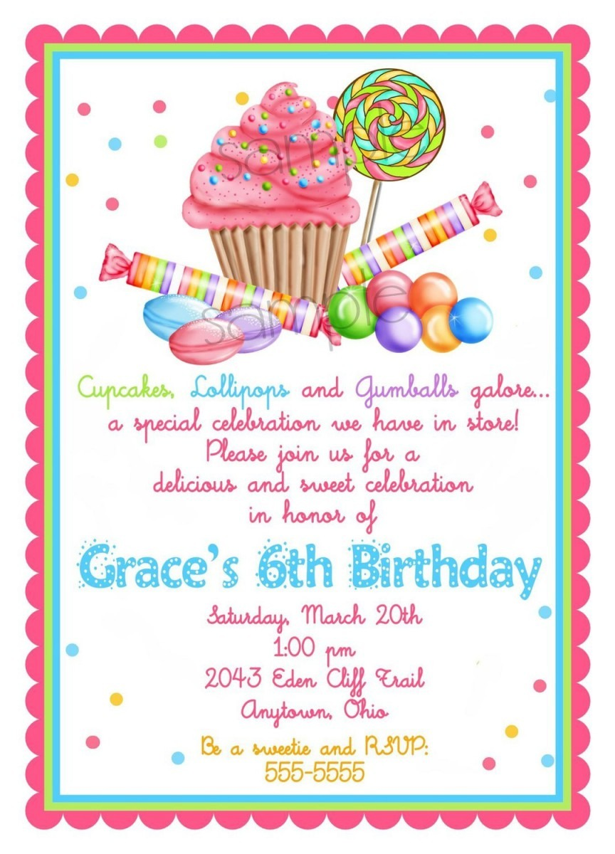 Candyland Party Invitations Candyland Party Invitations As Well As