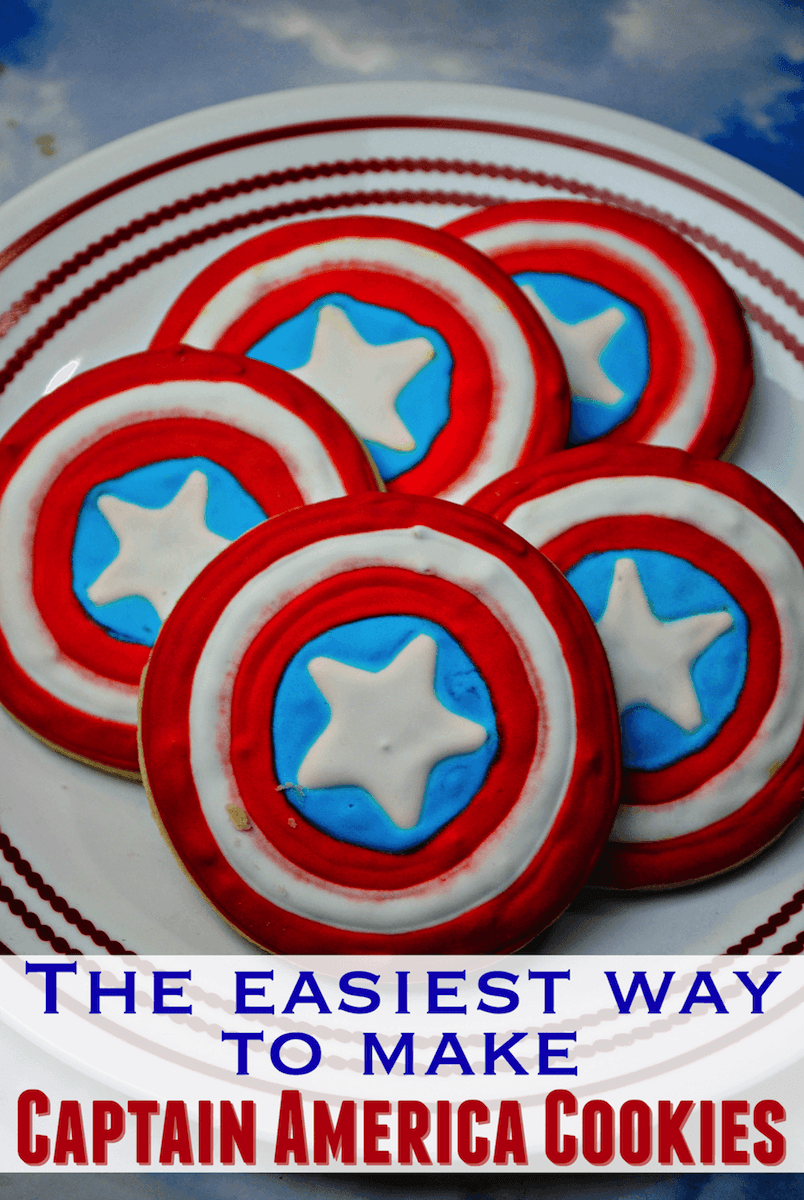 How To Make Captain America Shield Cookies  Recipe And Tutorial