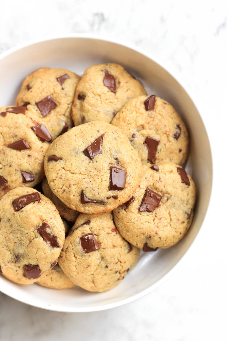 Chickpea Flour Chocolate Chunk Cookies (gluten