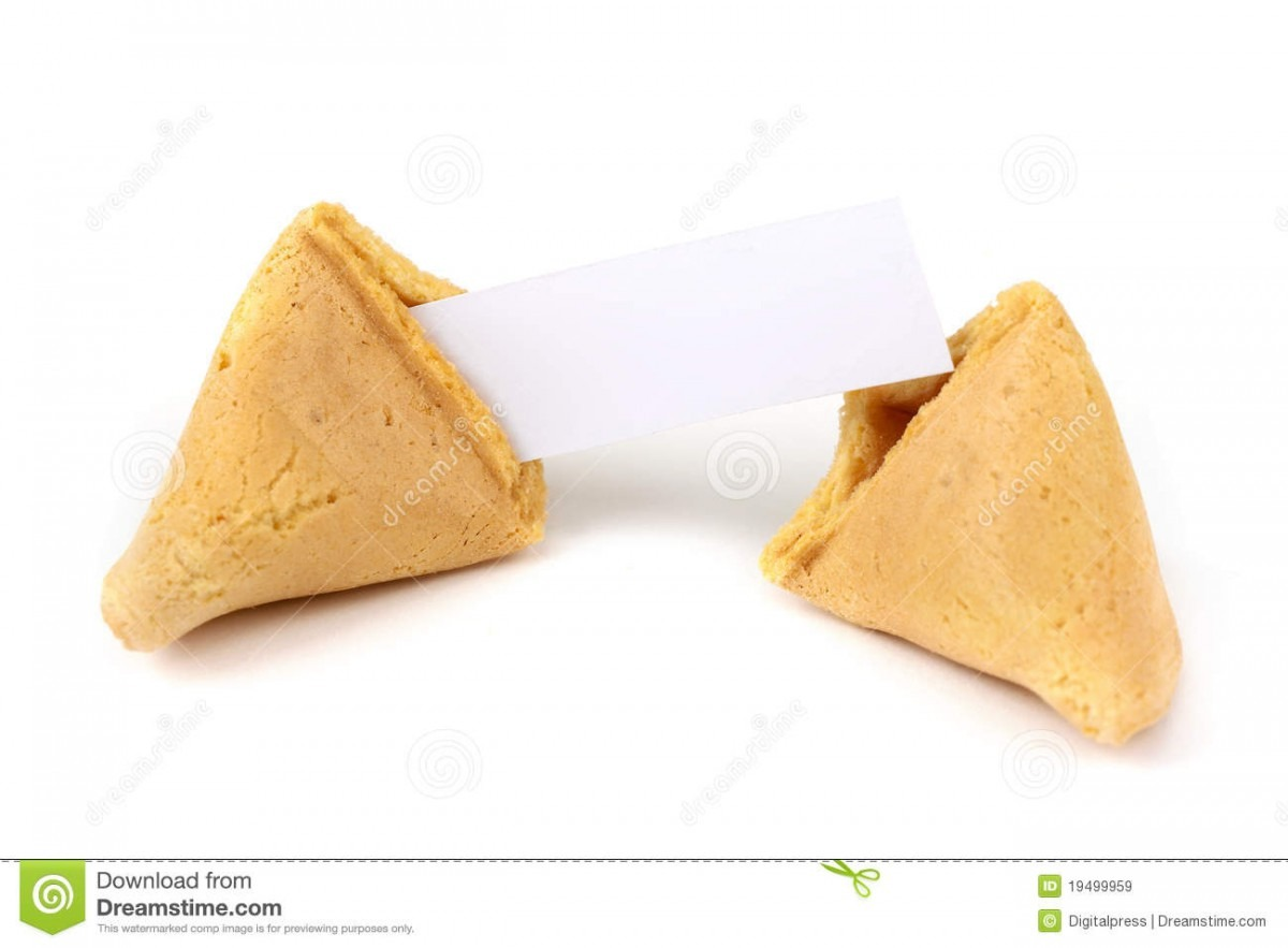 Chinese Fortune Cookie With Blank Paper Stock Image