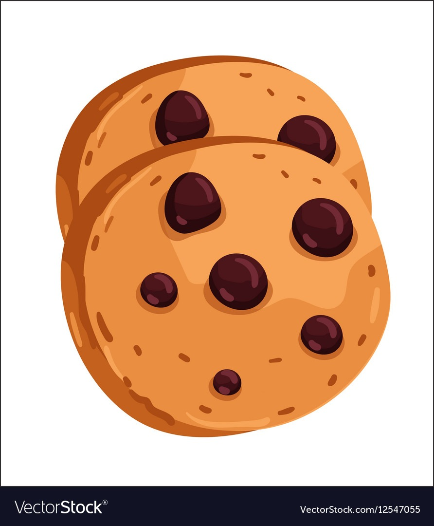 Chocolate Chip Cookie Cartoon Royalty Free Vector Image