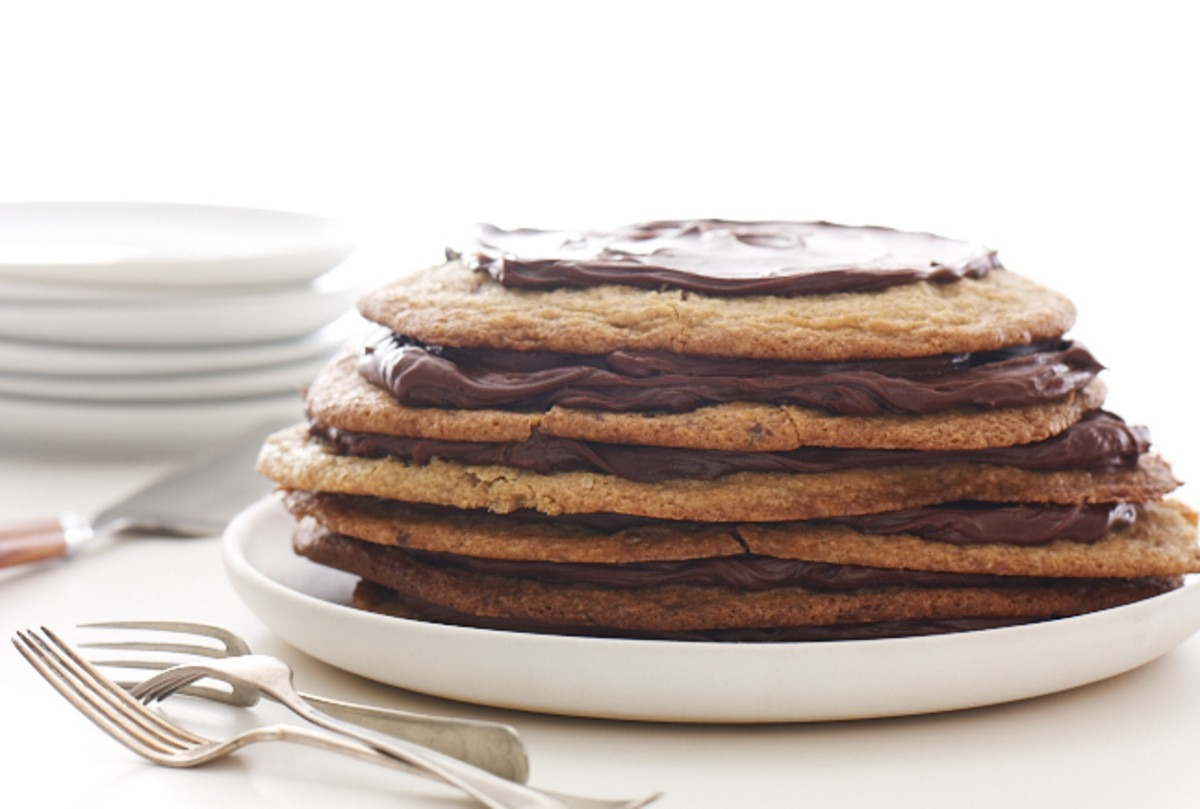 Giant Chocolate Chip Cookie Tower