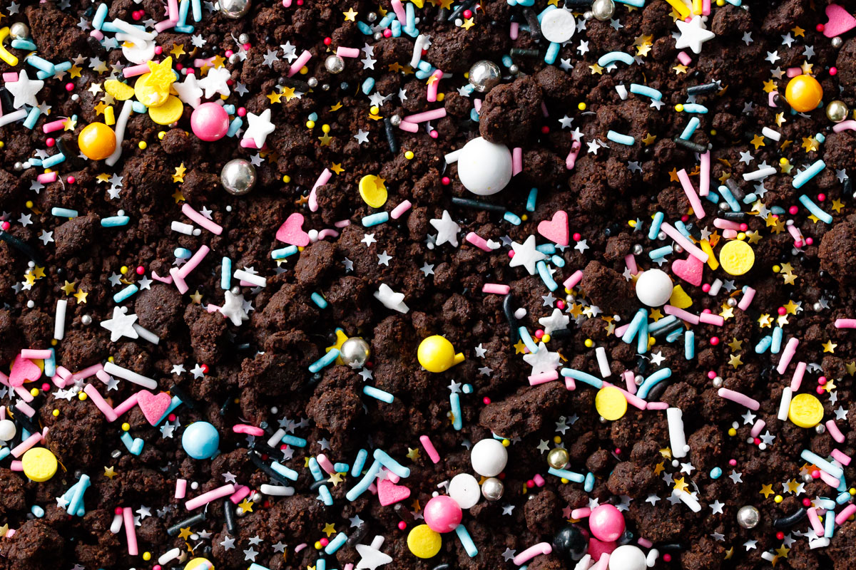 Chocolate Blackout Sheet Cake With Chocolate Cookie Crumbs