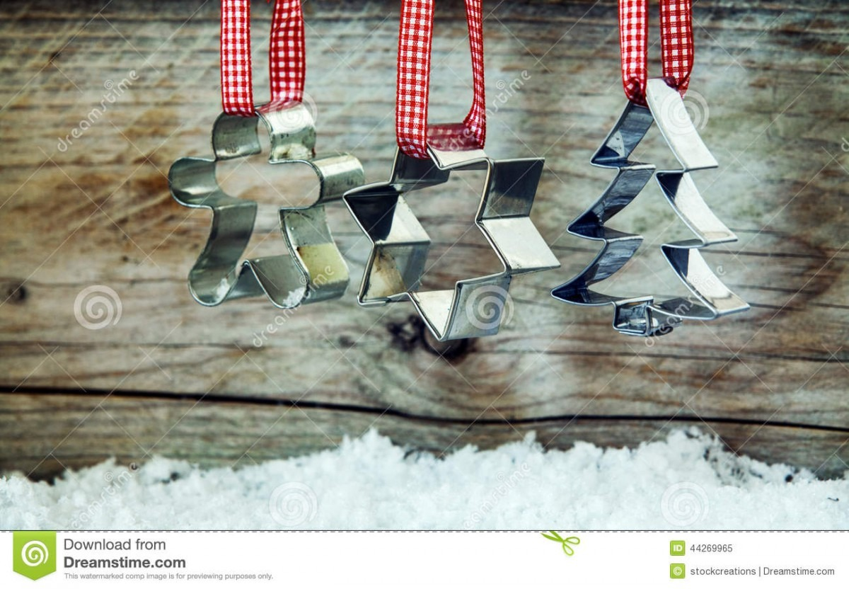 Christmas Cookie Cutter Background Stock Image