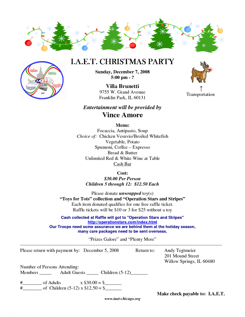 Christmas Party Invitation Sample Superb Holiday Party E