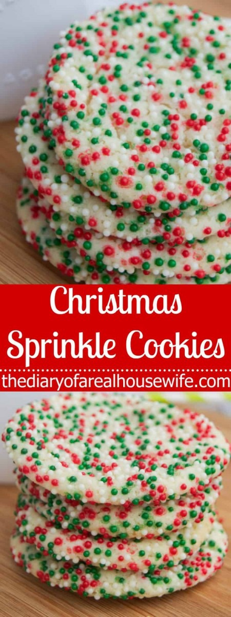 Christmas Sprinkle Cookies • The Diary Of A Real Housewife