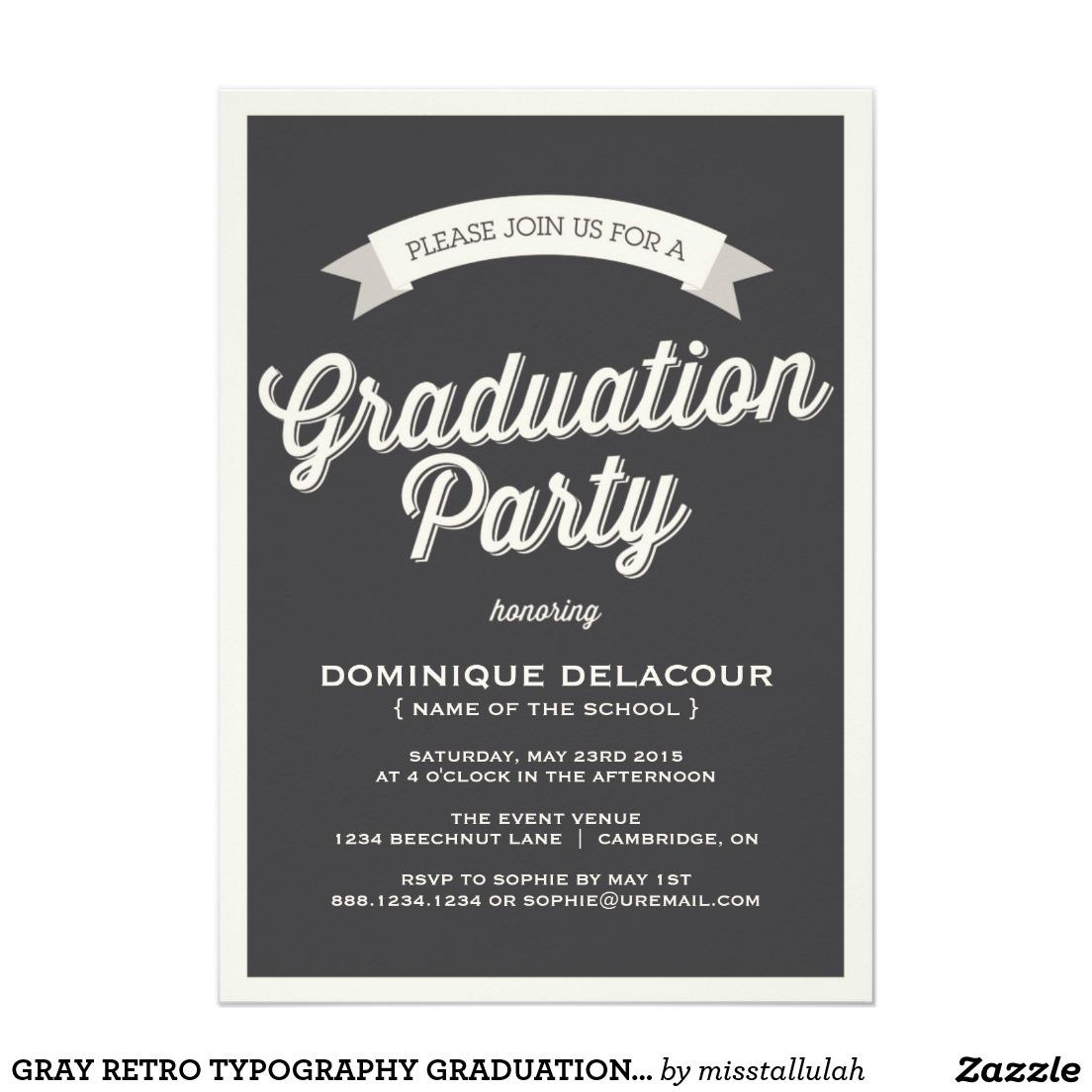 College Graduation Party Trend Graduation Party Invites