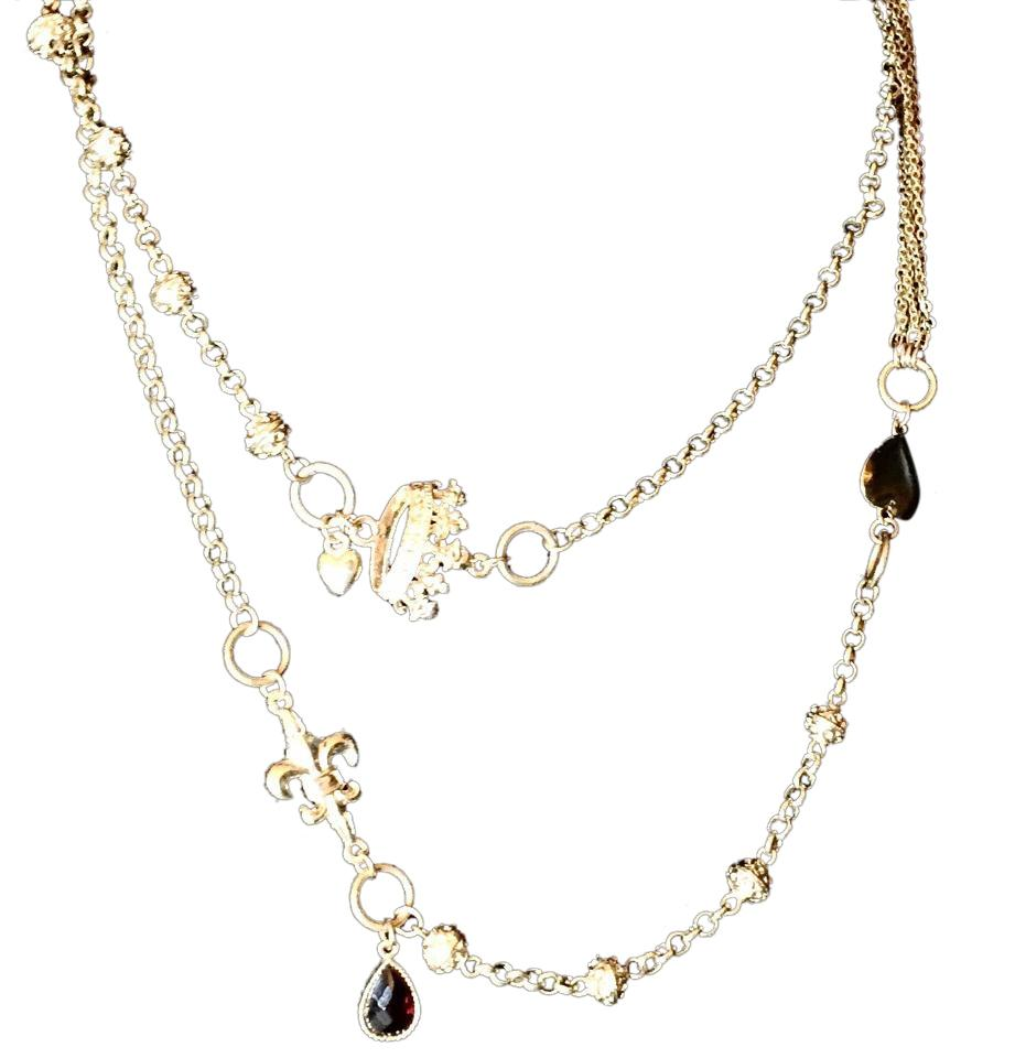 Cookie Lee Gold Oversized Double Wrap Charm Necklace