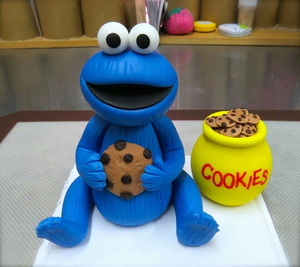 Cookie Monster Cake Toppers — Classic Style   Photos Of Cookie