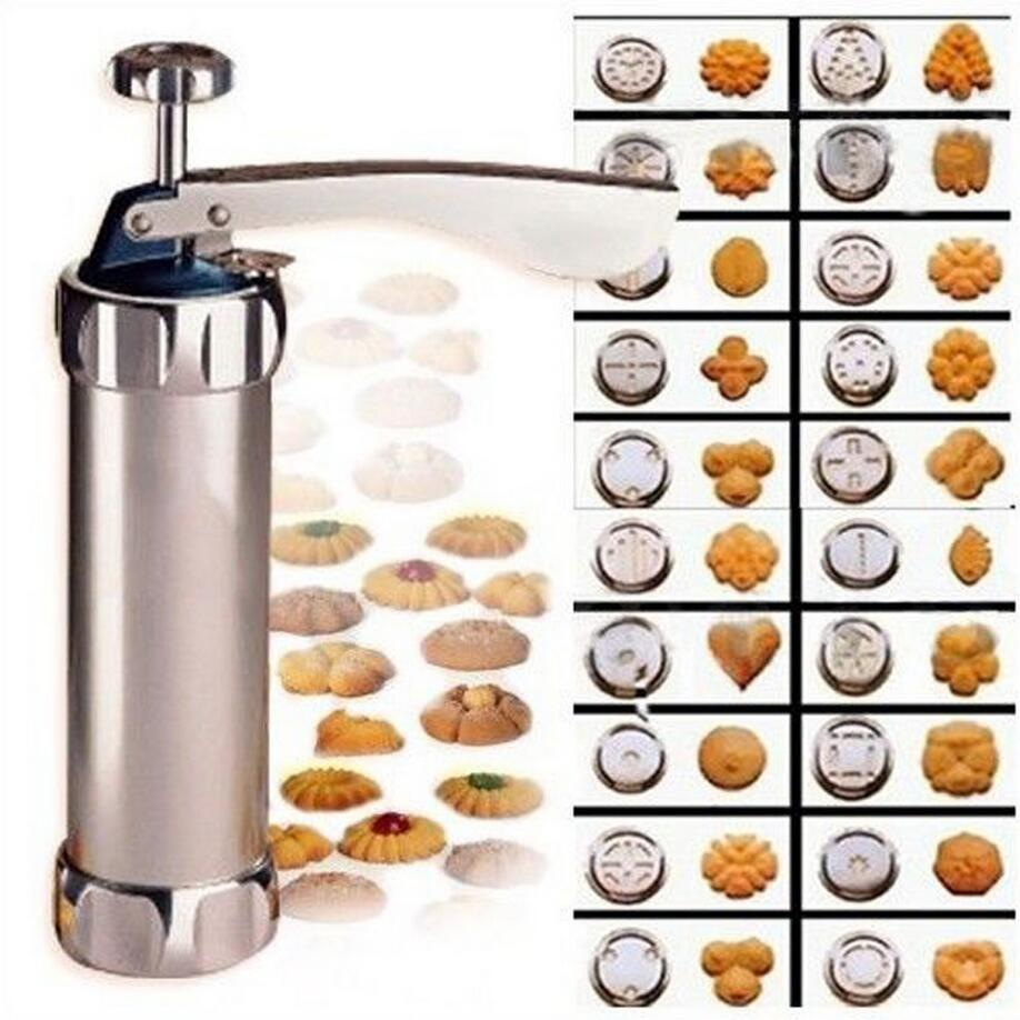 Cookie Press Kit, Stainless Steel Biscuit Press Set Includes 20