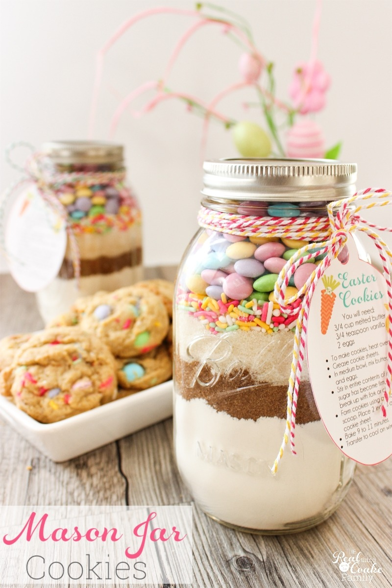 Easter Mason Jar Cookie Recipe With Free Printable Tags