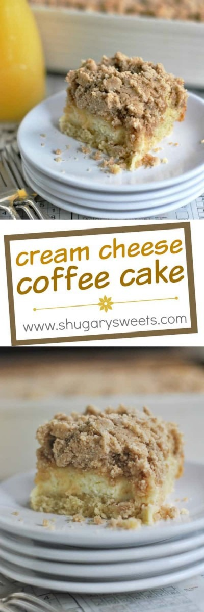 Cream Cheese Coffee Cake With Cinnamon Streusel
