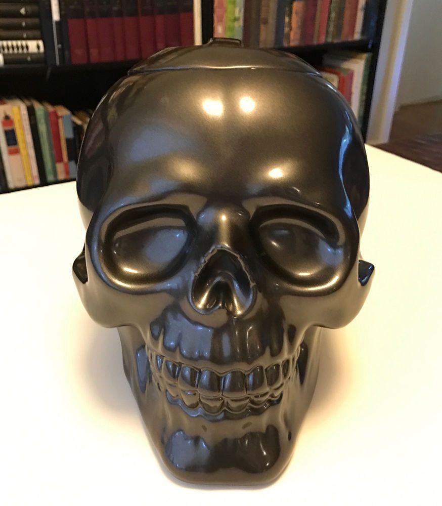 Large Skull Cookie Jar Halloween Goth 2008 Target Exclusive