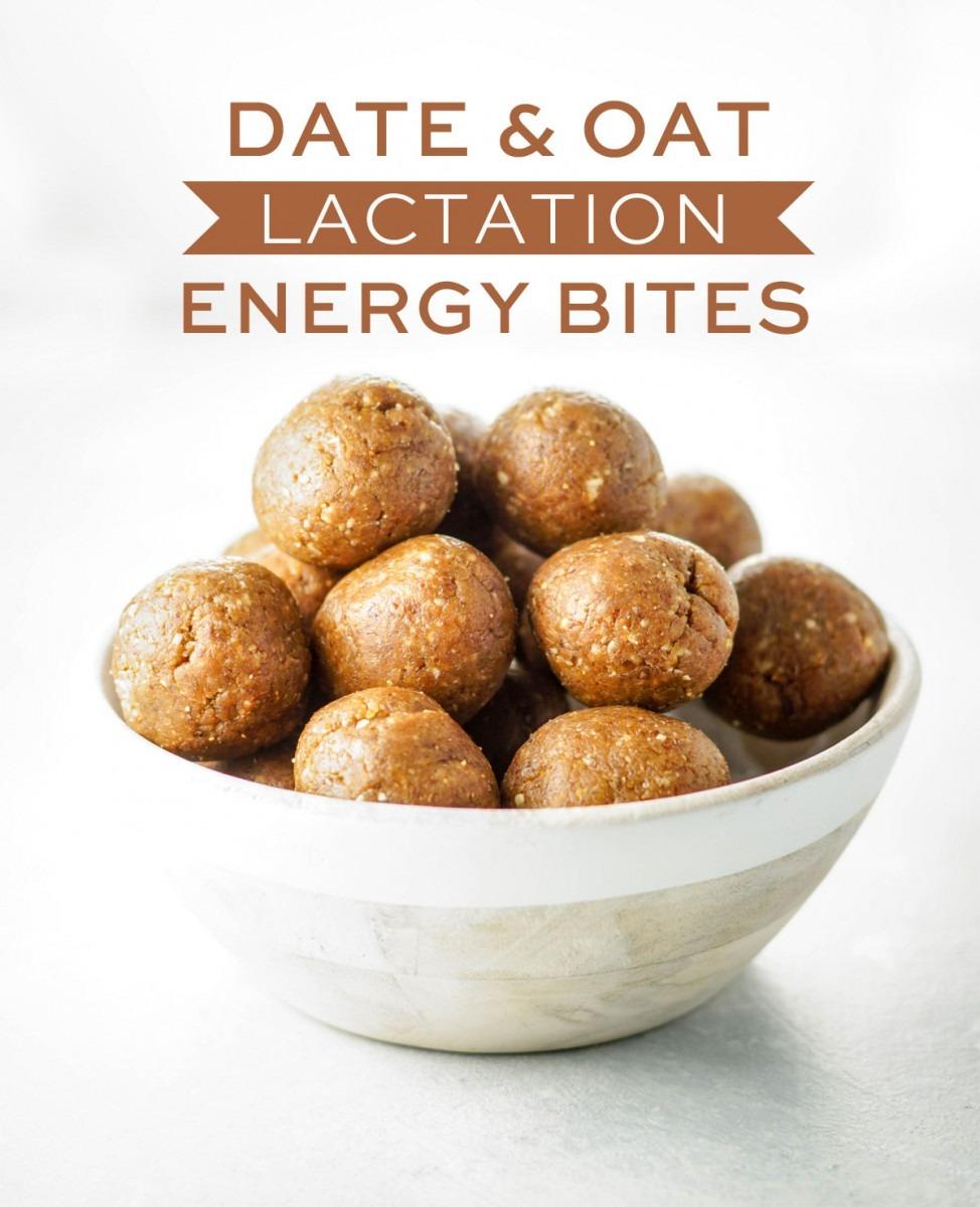 Date & Oat Lactation Energy Bites (vegan)