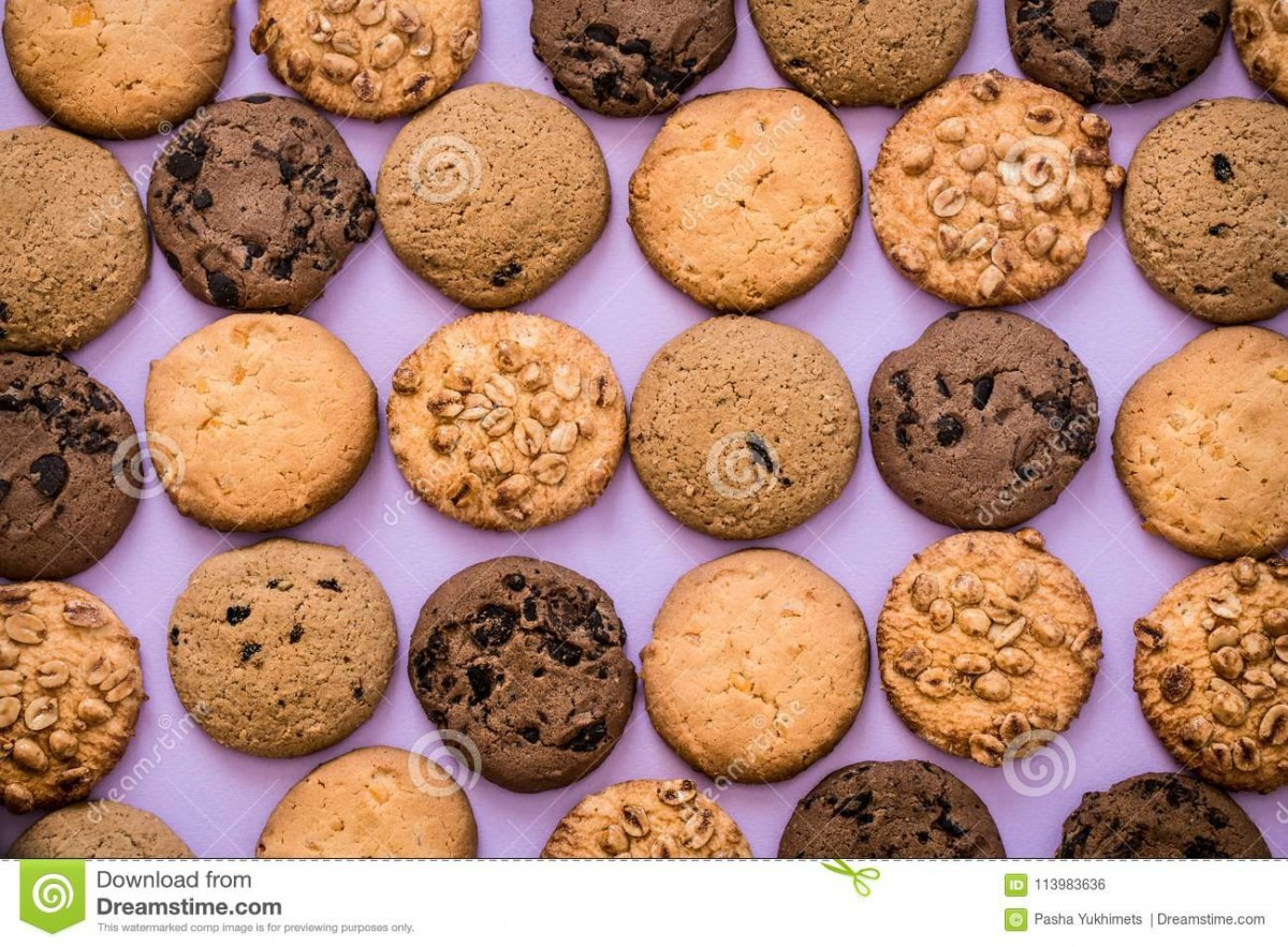 Different Kinds Of Homemade Cookies Stock Photo