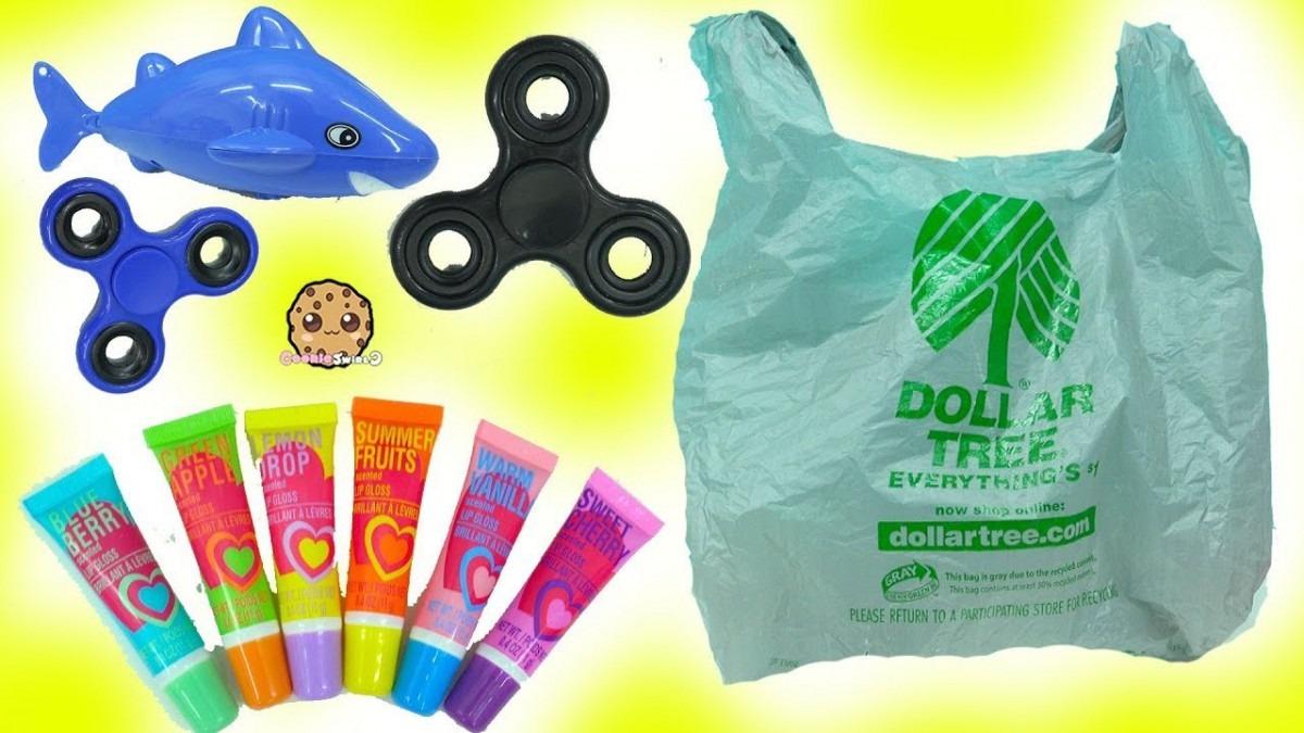 Dollar Tree Haul Fidget Spinners , Yummy Scented Lip Gloss Makeup