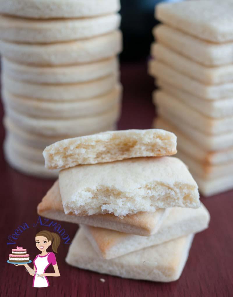 Eggless Vanilla Sugar Cookies Recipe