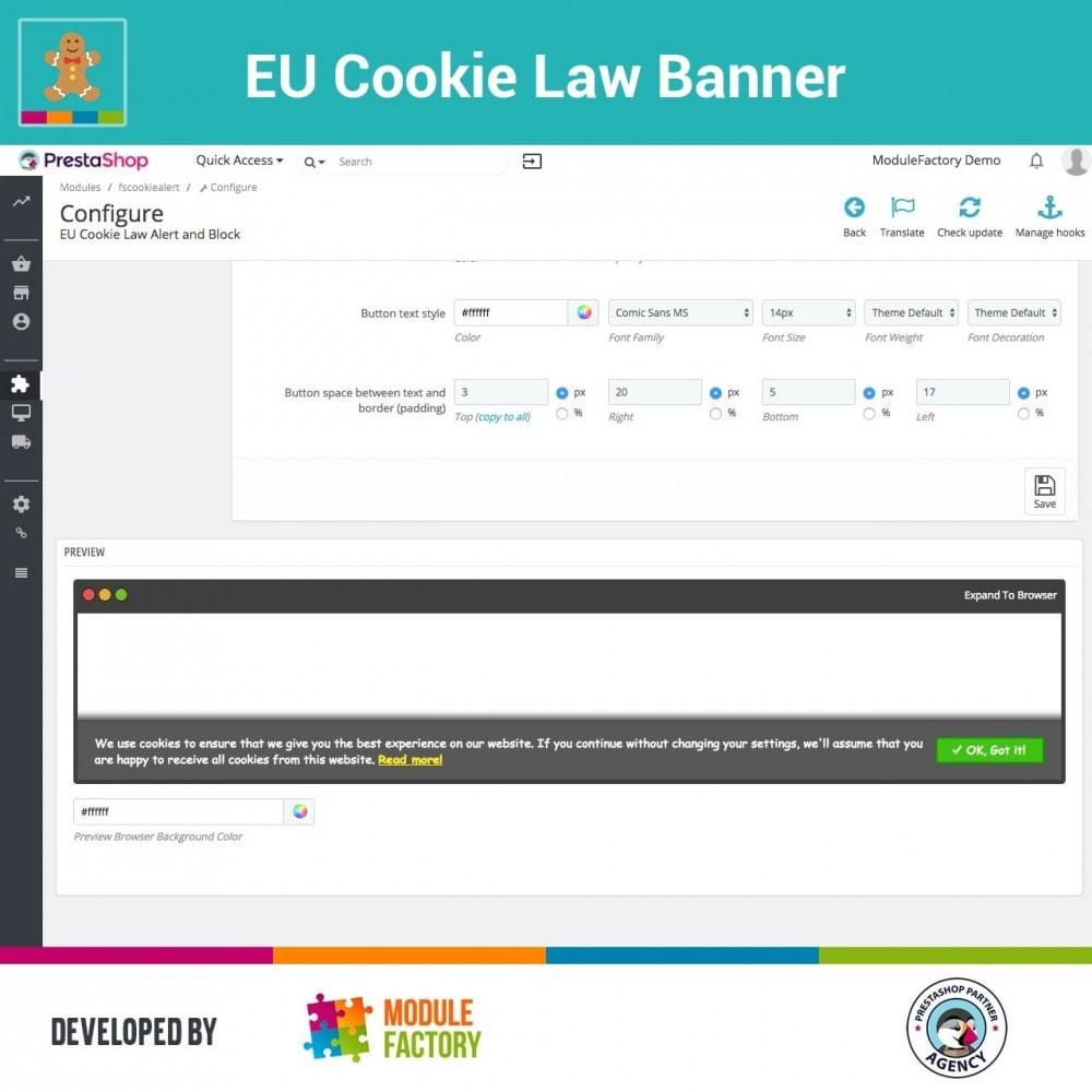 Eu Cookie Law Alert Banner And Cookie Blocker