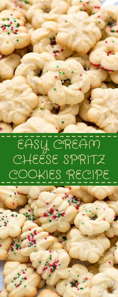 Easy Cream Cheese Spritz Cookies Recipe  Christmas  Cookies
