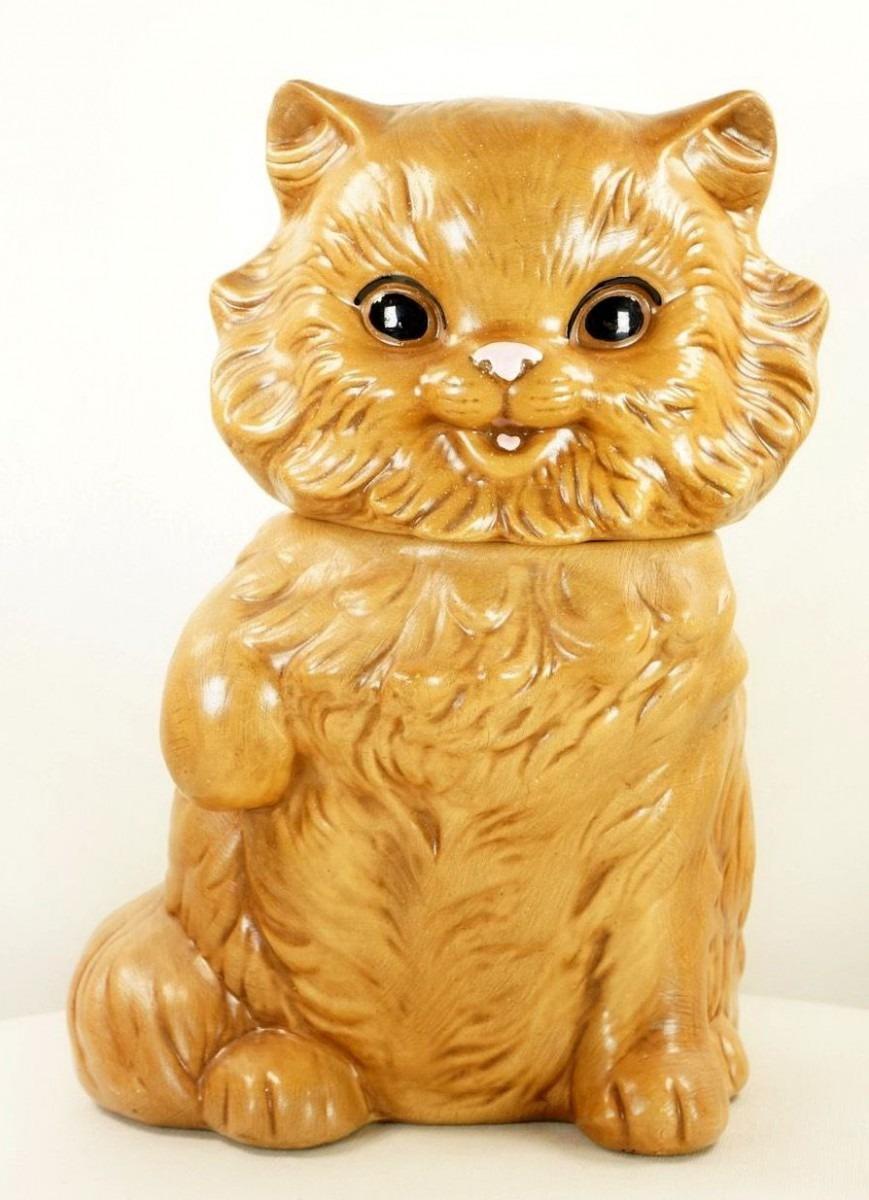 Vintage Orange Tabby Rare Twin Winton Kitten Kitty Cat Cookie Jar