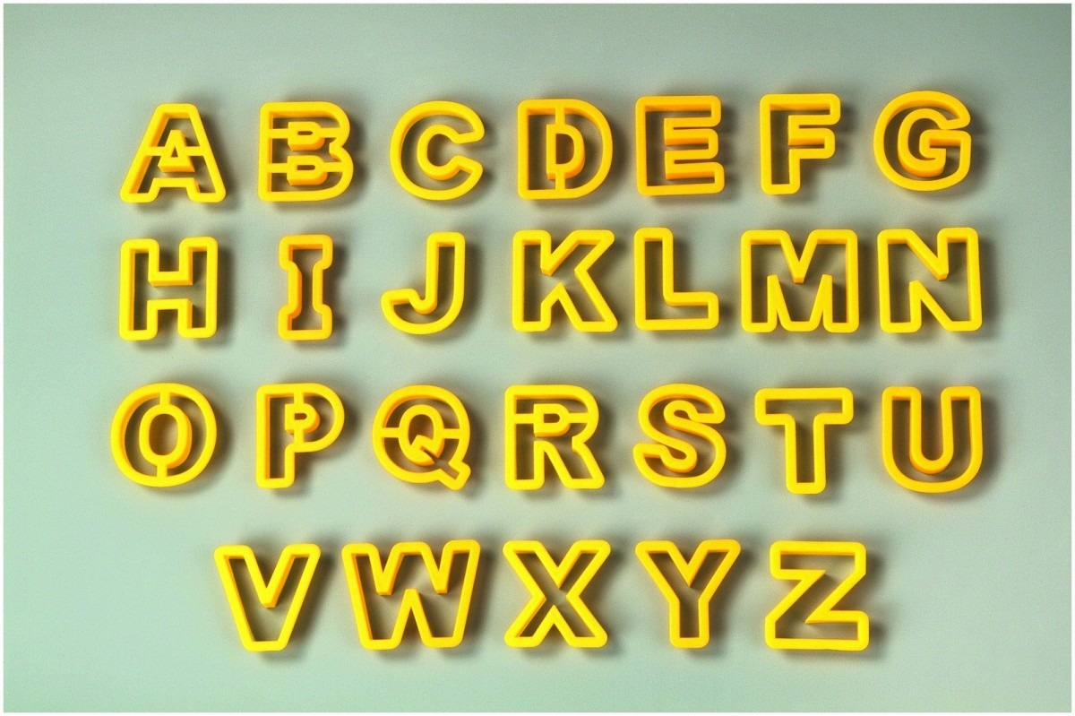 Nylon Alphabet Cookie Cutter Set With Box Ckc