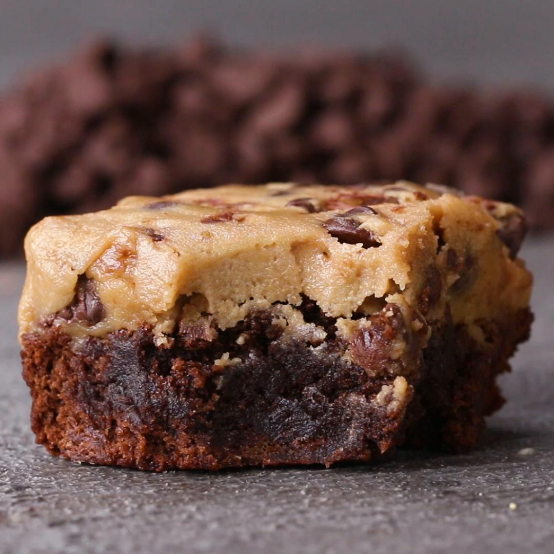 Cookie Dough Boxed Brownies Recipe By Tasty