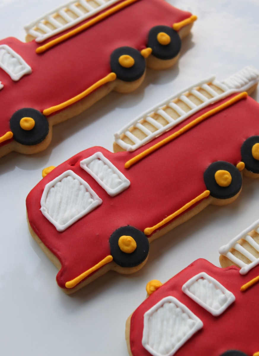 Fire Truck Cookies By Whipped Bakeshop In Philadelphia