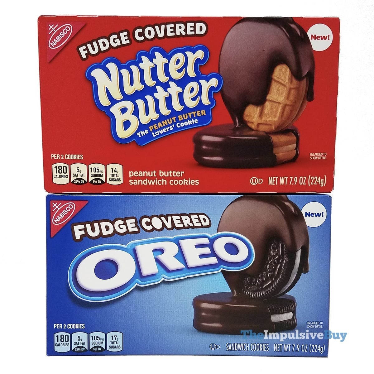 Review  Fudge Covered Nutter Butter And Oreo Cookies