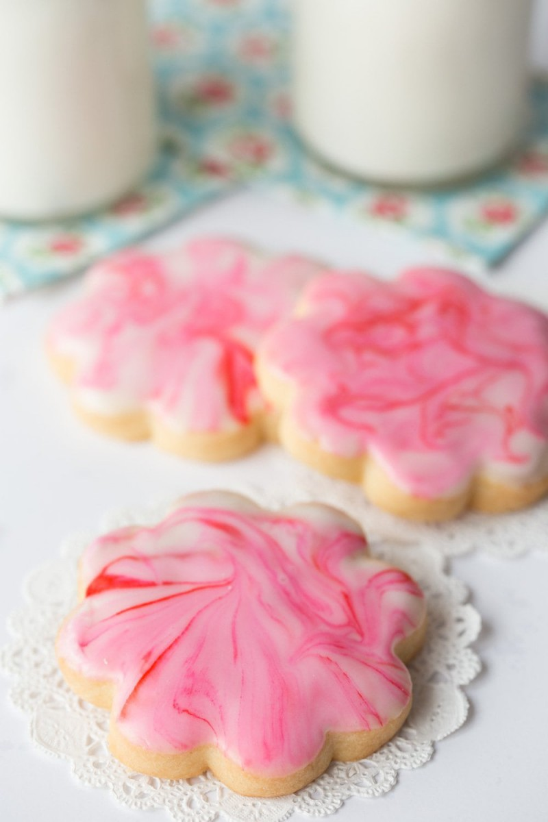 Glazed Shortbread Cutout Cookies