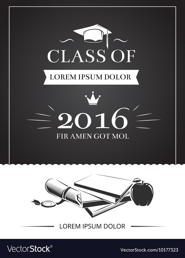 Graduation Party Invitation Card Royalty Free Vector Image