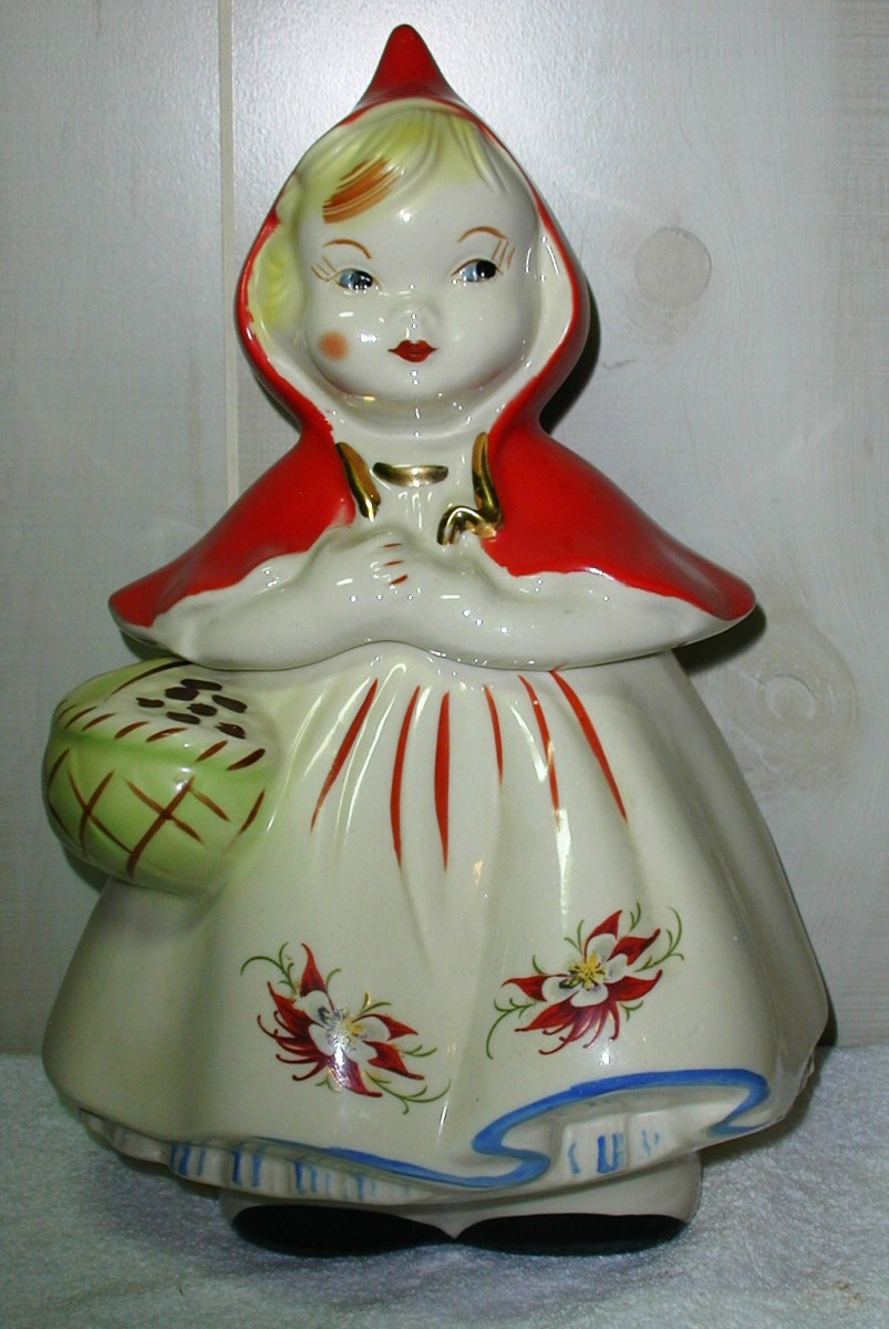 Hull Little Red Riding Hood ~poinsettia~ Rare Collector Cookie Jar