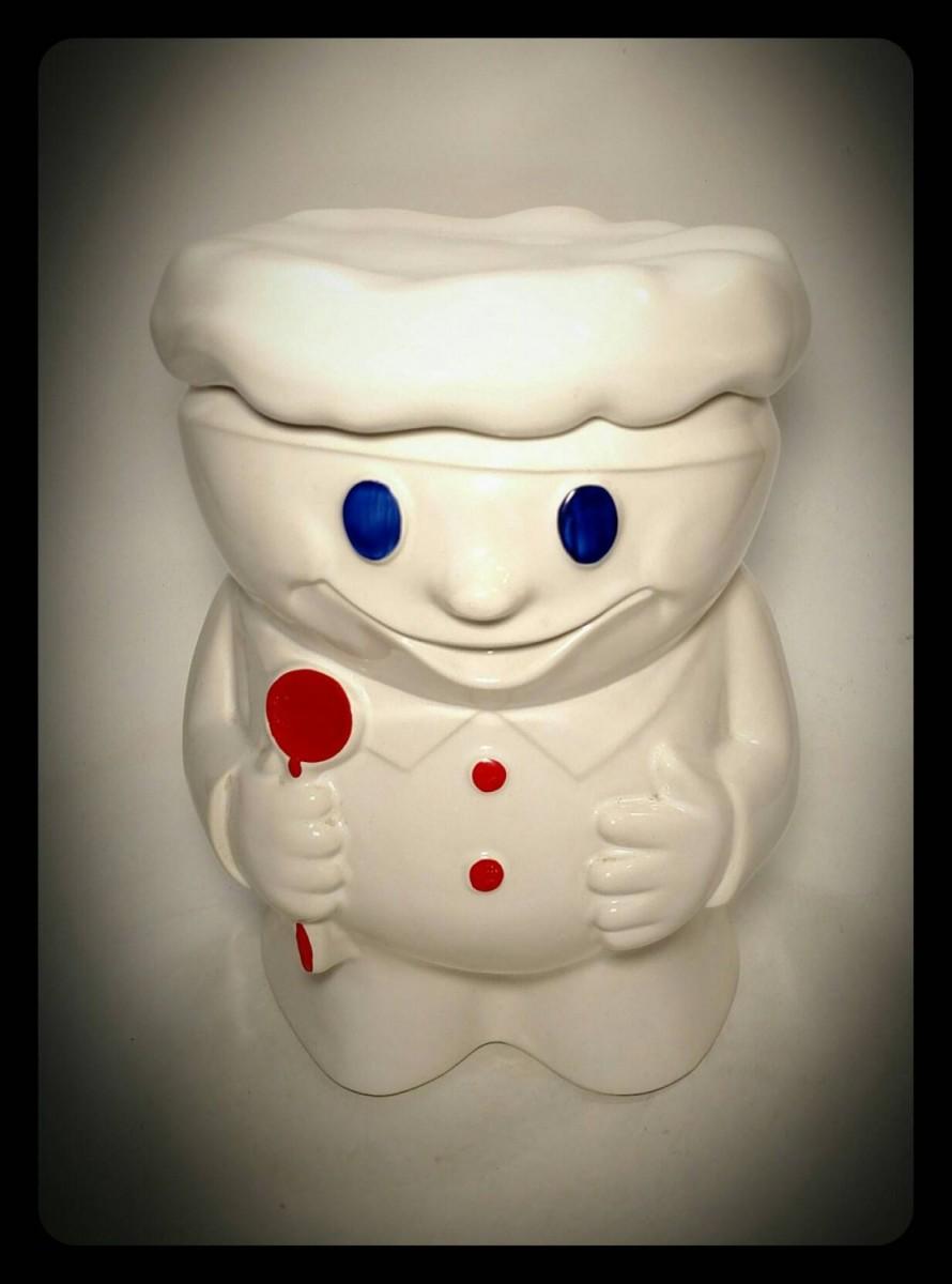 Collectible Mccoy Pillsbury Doughboy Cookie Jar Bobby The Baker