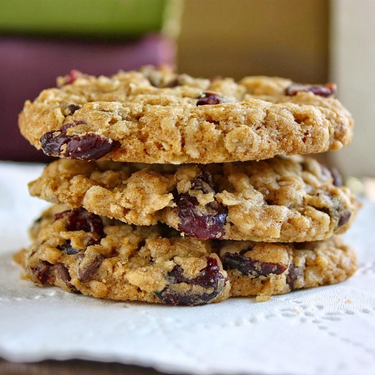 Art Of Dessert  Oatmeal Cranberry Chocolate Chip Cookies (vegan)