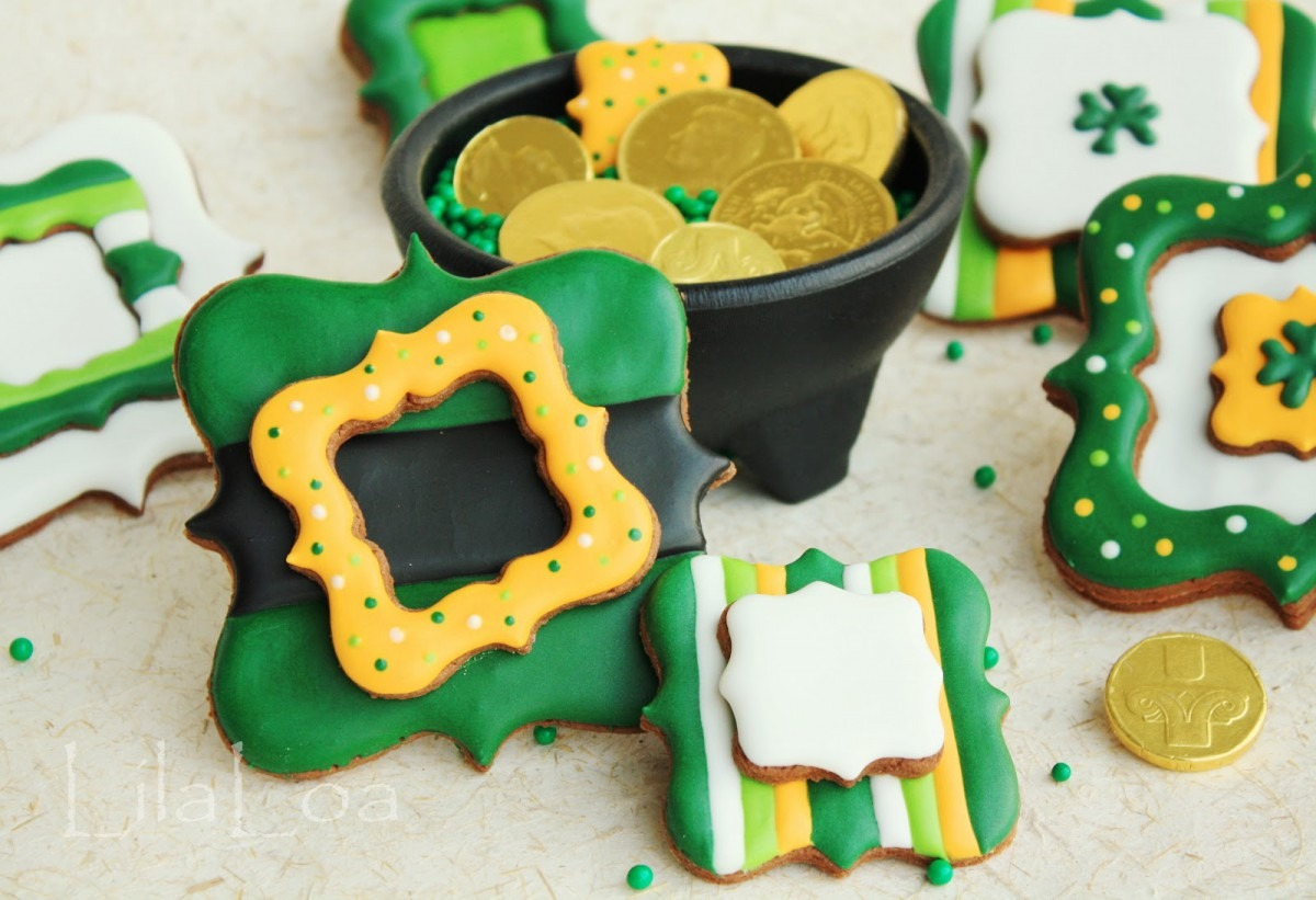 Fancy St  Patrick's Day Cookies