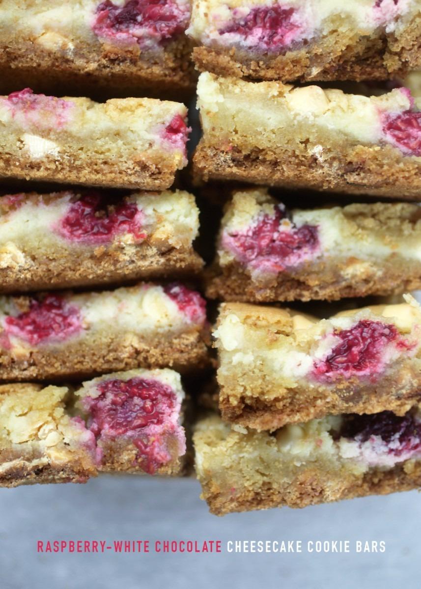 Raspberry White Chocolate Cheesecake Cookie Bars – Bakerella Com