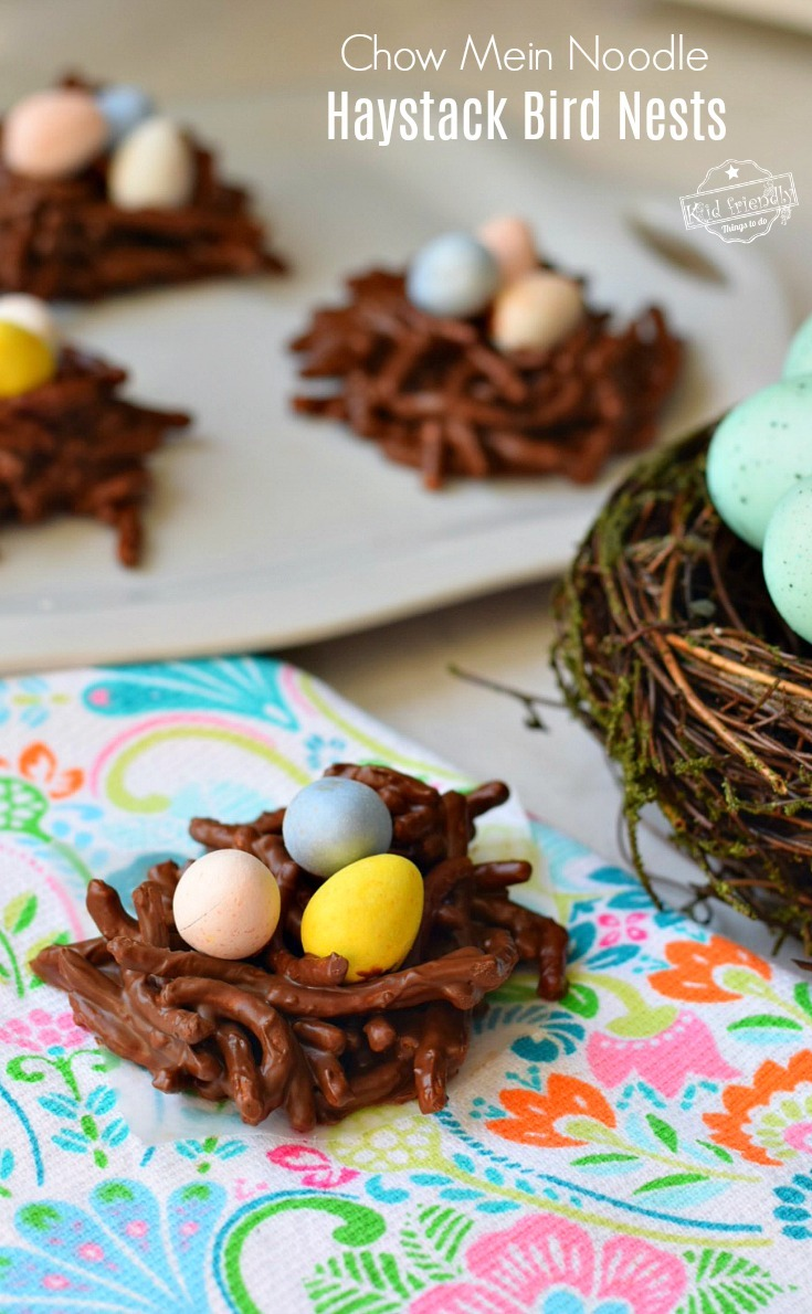 Haystack Cookie Recipe With Chow Mein Noodles Made Into Bird Nests