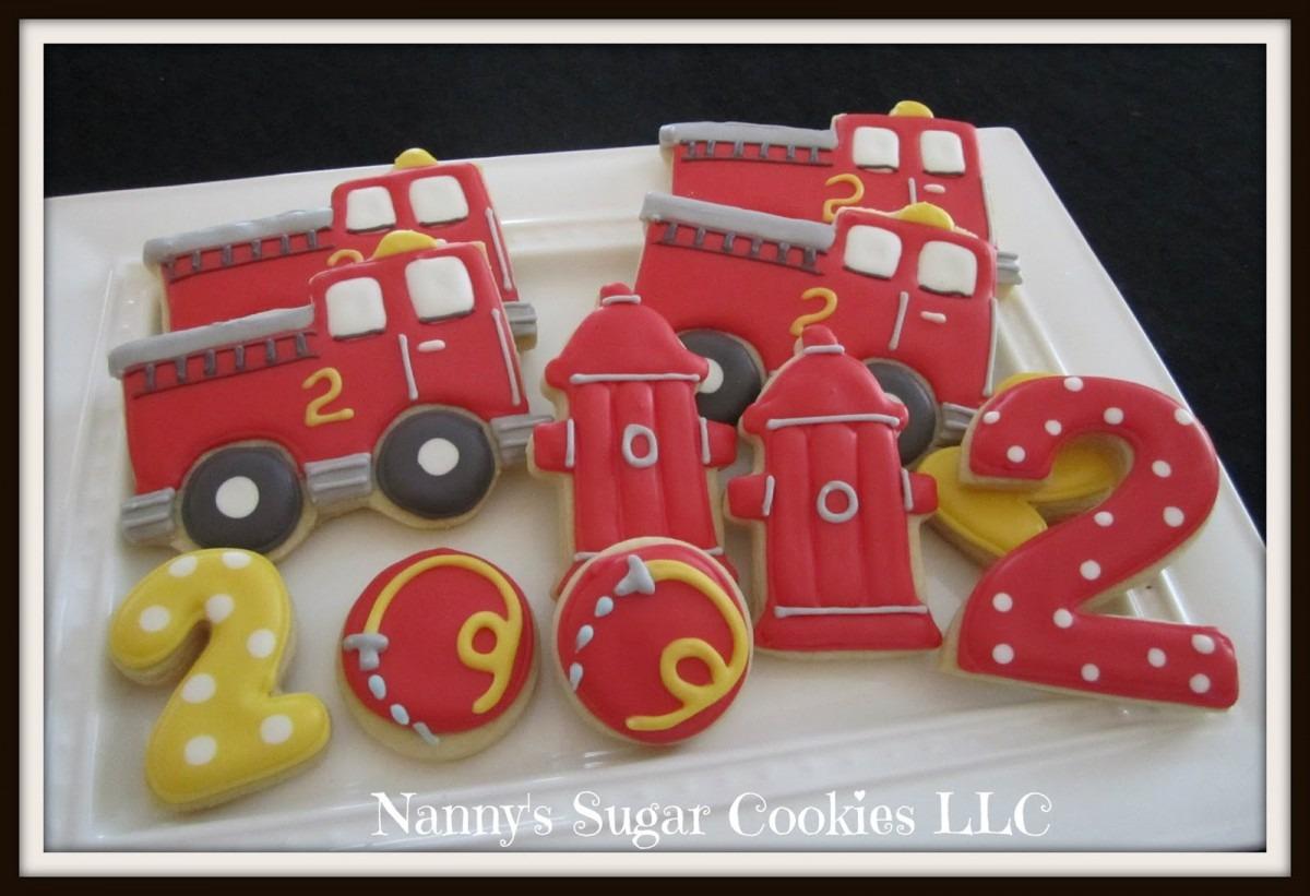 Nanny's Sugar Cookies Llc  Fire Truck Birthday Party