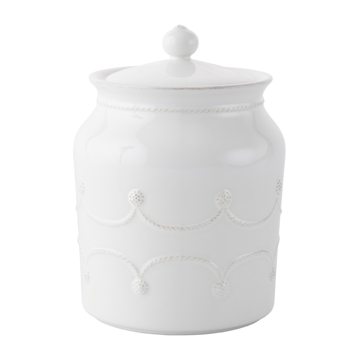 Berry & Thread Whitewash Cookie Jar