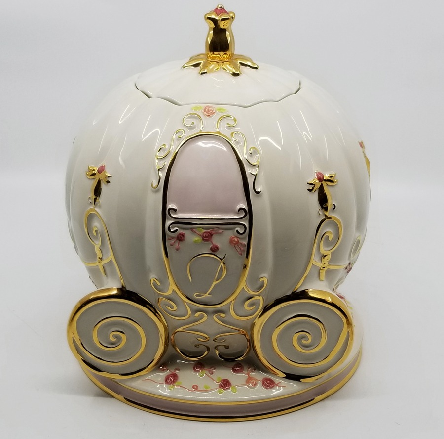 Cinderella Coach Ceramic Cookie Jar