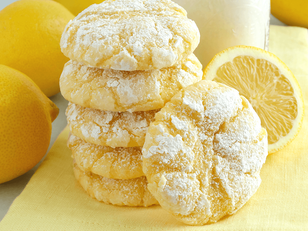 Lemon Gooey Butter Cookies ~ Deliciousness Made With All