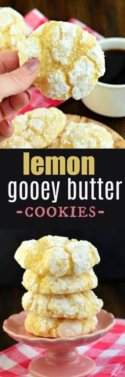 Easy Lemon Gooey Butter Cookies Recipe {no Cake Mix Needed}