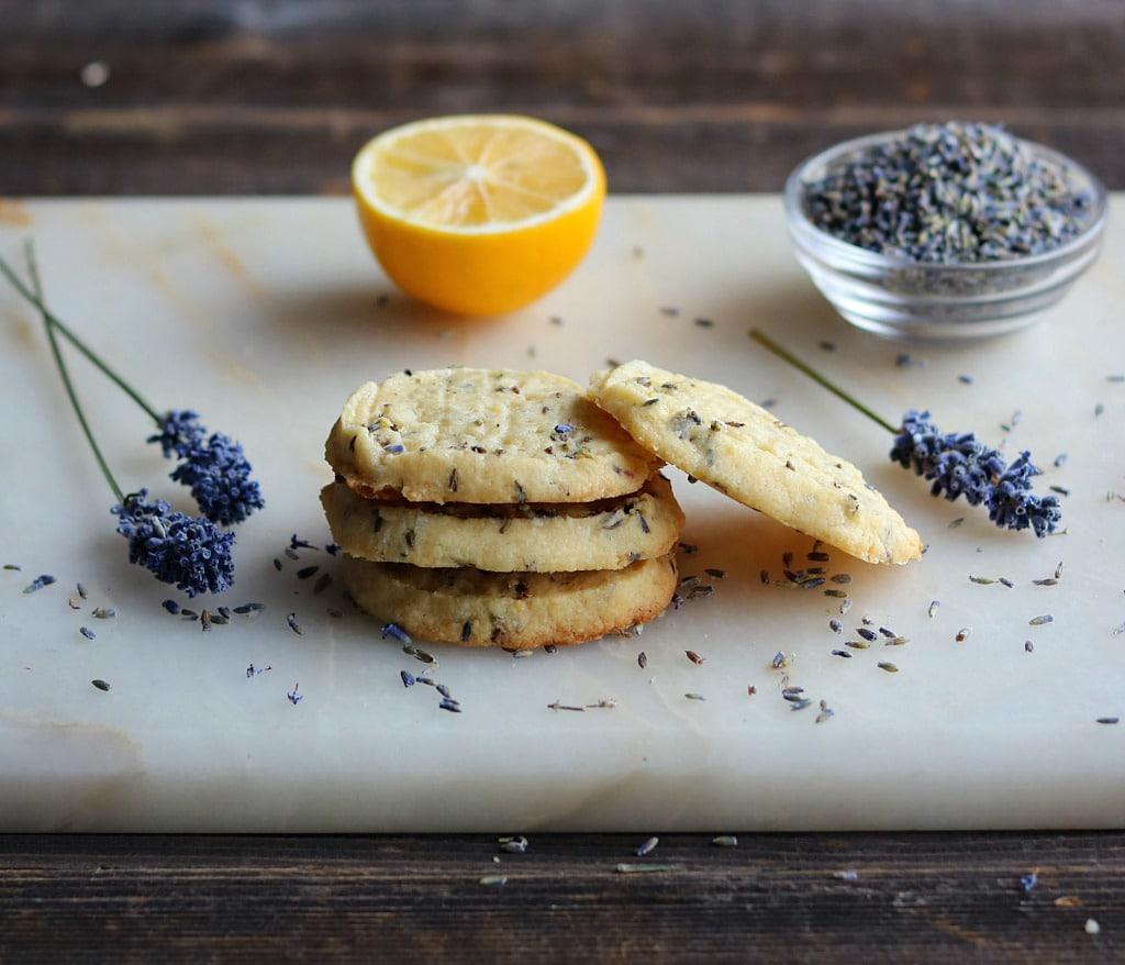Lemon + Lavender Shortbread Cookies