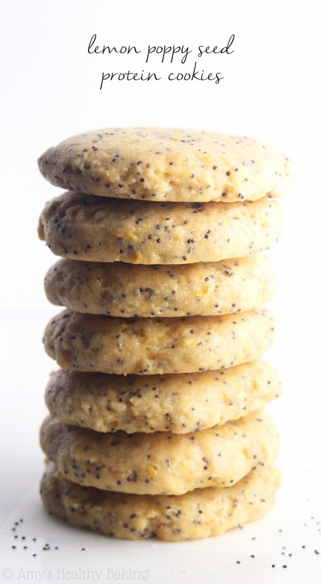 Lemon Poppy Seed Protein Cookies