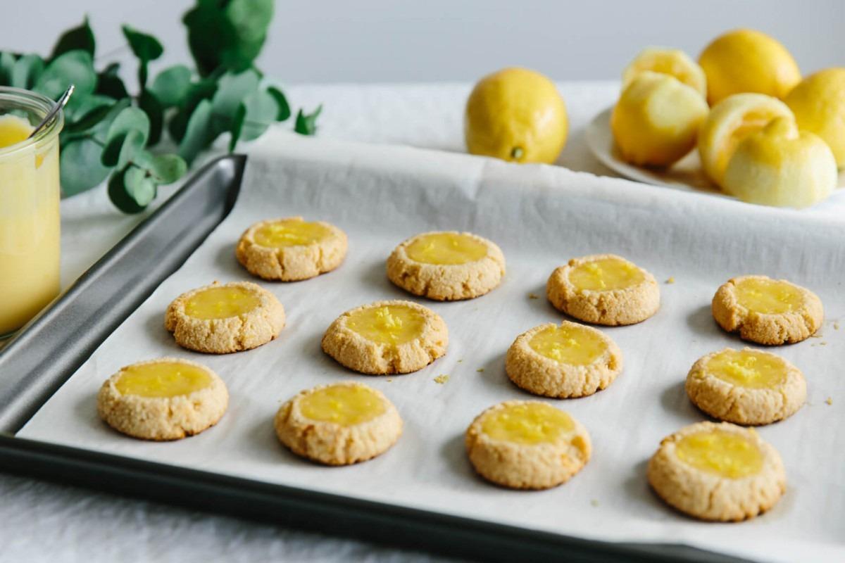 Lemon Curd Thumbprint Cookies (gluten