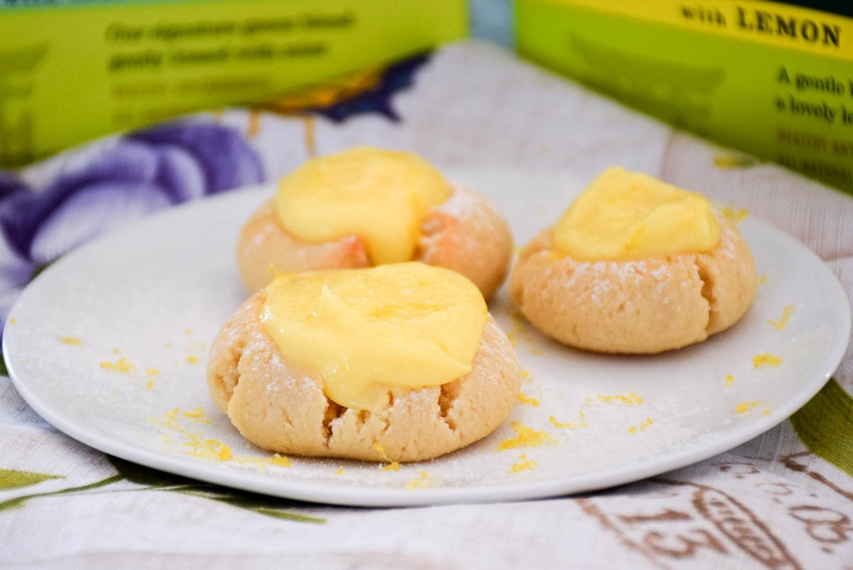 Low Carb Lemon Thumbprint Cookies