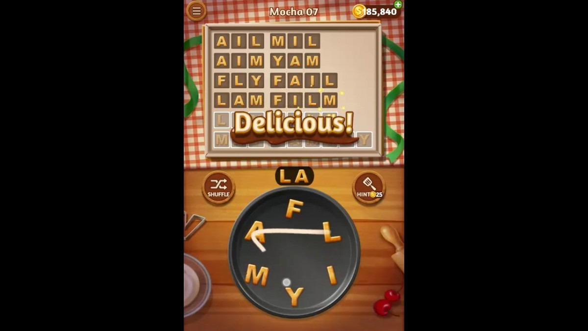 Word Cookies Mocha Pack Level 7 Answers