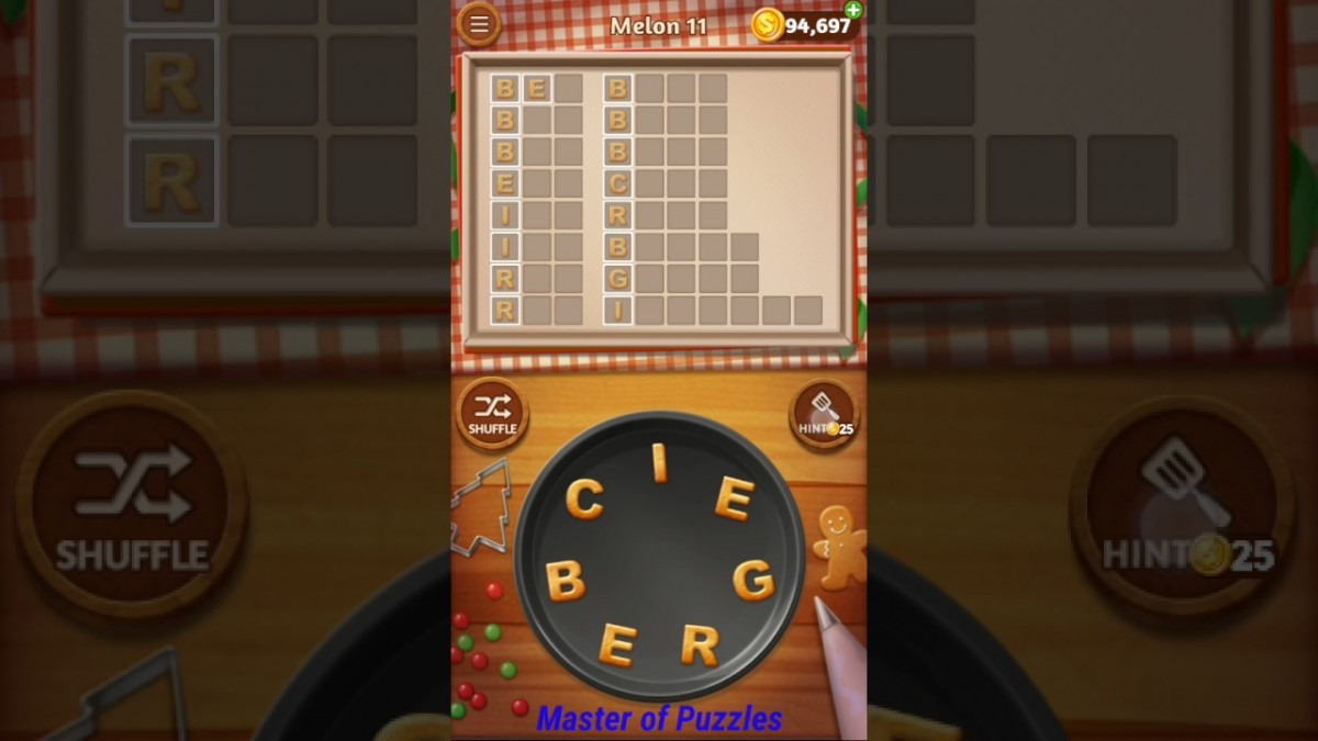 Word Cookies Melon Level 11 Sous Chef Solved